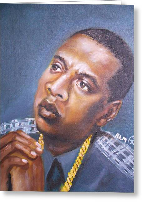 Jay-z Greeting Card by Ronnie Melvin