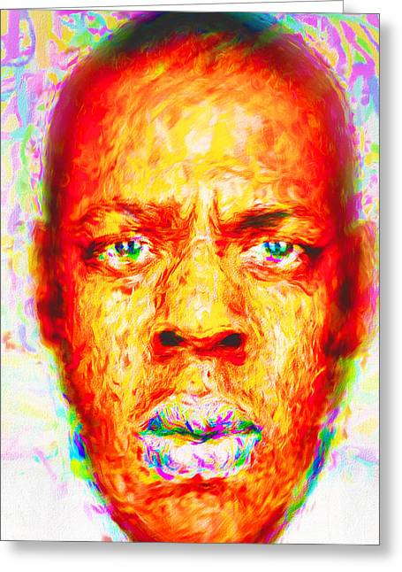 Jay-z Shawn Carter Digitally Painted Greeting Card