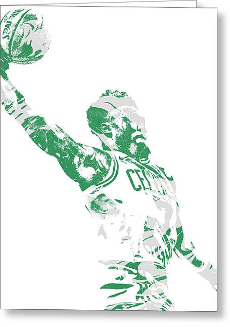 Jaylen Brown Boston Celtics Pixel Art 11 Greeting Card