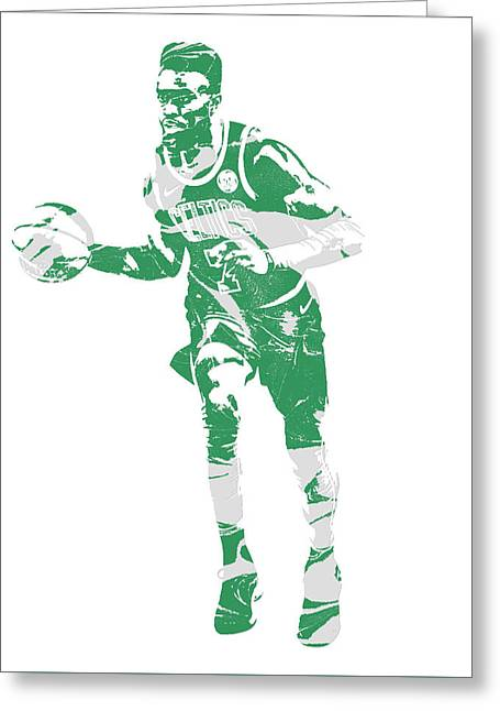 Jaylen Brown Boston Celtics Pixel Art 30 Greeting Card