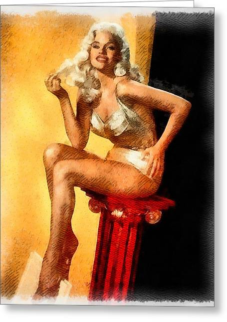 Jayne Mansfield Hollywood Actress And Pinup Greeting Card