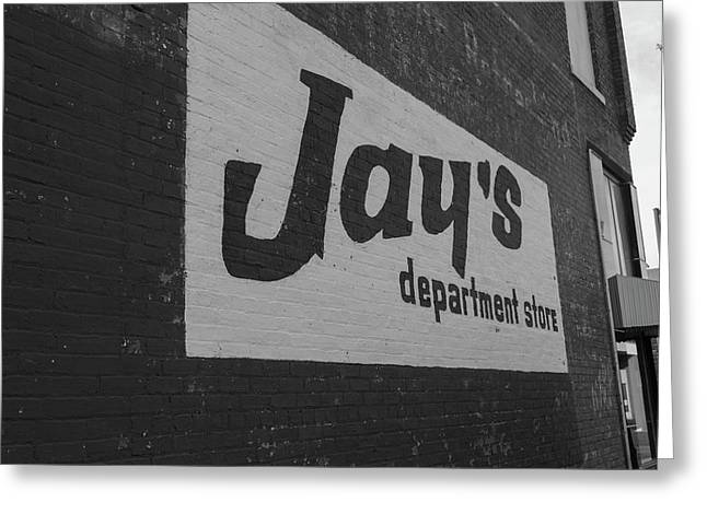 Jay's Department Store In Bw Greeting Card