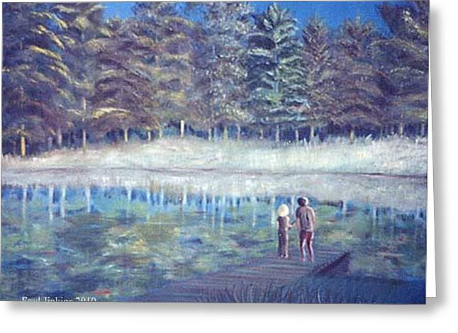 Jays Lake Greeting Card by Fred Jinkins