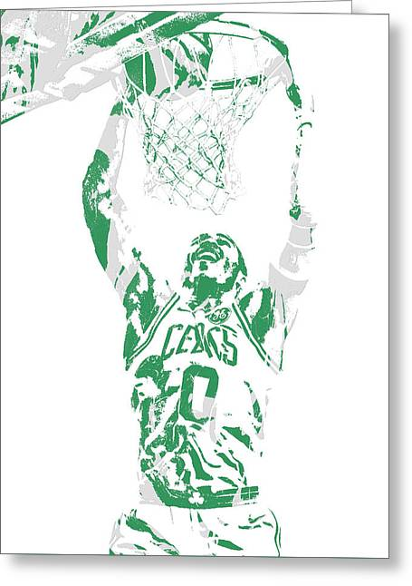 Jayson Tatum Boston Celtics Pixel Art 10 Greeting Card