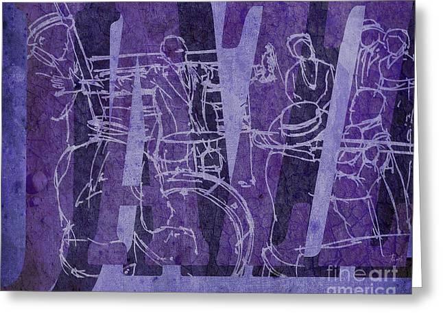 Jazz 31 Satchmo - Purple Greeting Card by Pablo Franchi