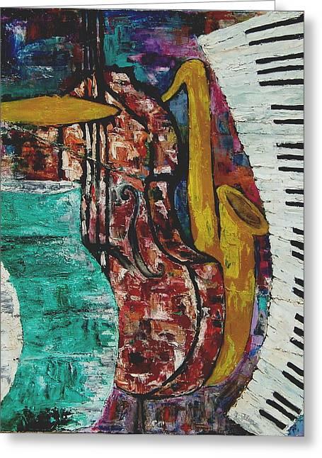 Jazz Greeting Card by Andrea Vazquez-Davidson