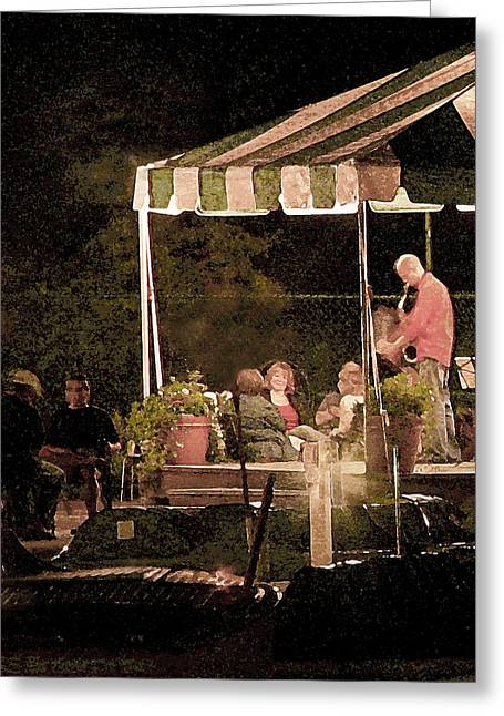 Jazz At The Boathouse Subdued Greeting Card