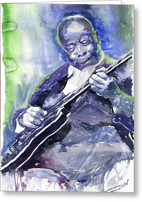 Jazz B B King 02 Greeting Card by Yuriy  Shevchuk
