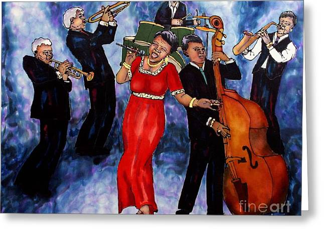 Jazz Band Greeting Card by Linda Marcille