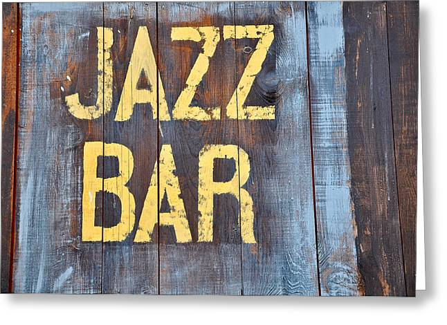 Jazz Bar Greeting Card by Keith Sanders