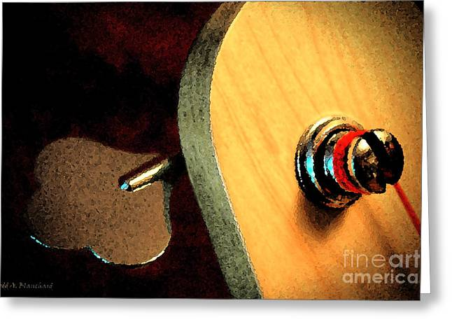 Greeting Card featuring the digital art Jazz Bass Tuner by Todd Blanchard