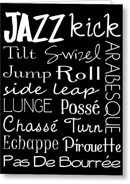 Jazz Dance Subway Art  Poster Greeting Card