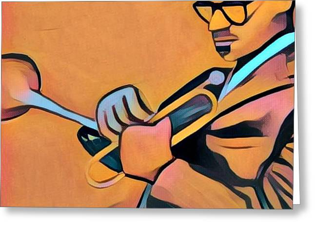 Dizzy Gillespie Trumpet Greeting Card