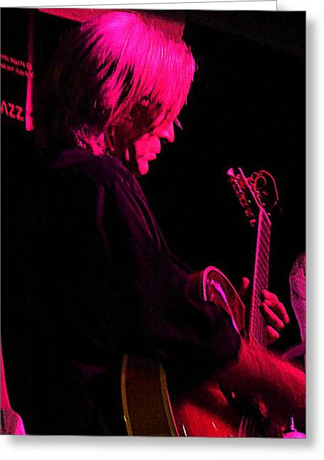Greeting Card featuring the photograph Jazz Guitarist by Lori Seaman