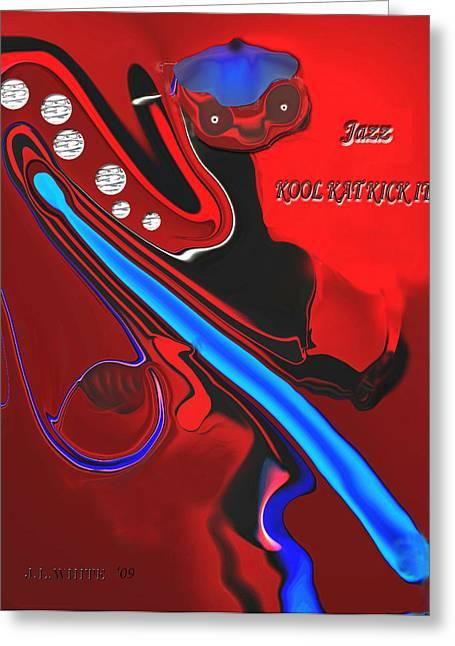 Jazz Kool Kat Kick It Greeting Card