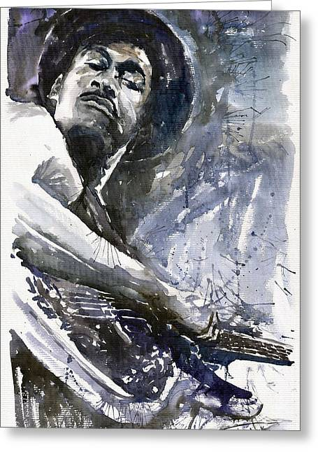 Jazz Marcus Miller 01 Greeting Card by Yuriy  Shevchuk