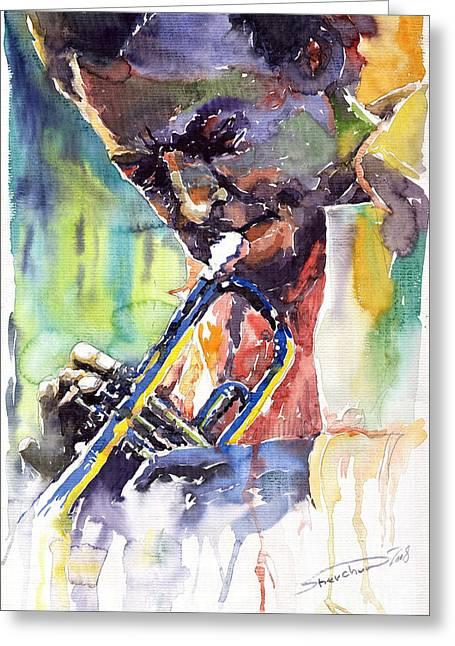 Jazz Miles Davis 9 Blue Greeting Card