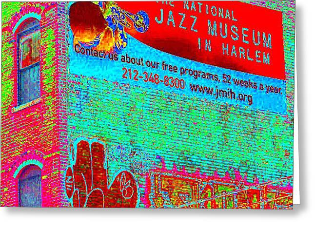 Jazz Museum Greeting Card by Steven Huszar