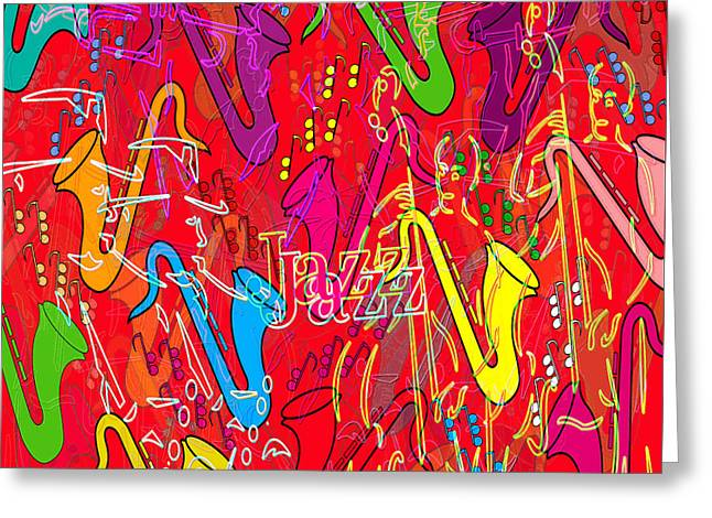 Jazz Greeting Card by Neil Finnemore