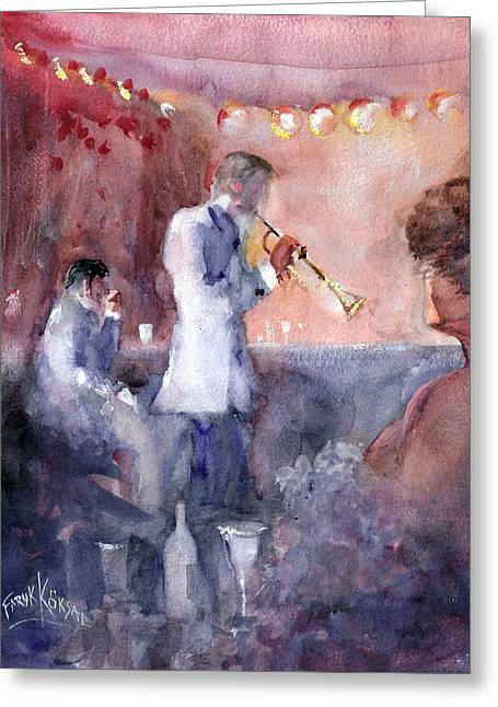 Jazz Nights Greeting Card