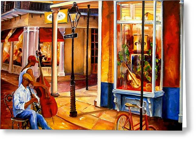 Jazz On Royal Street Greeting Card