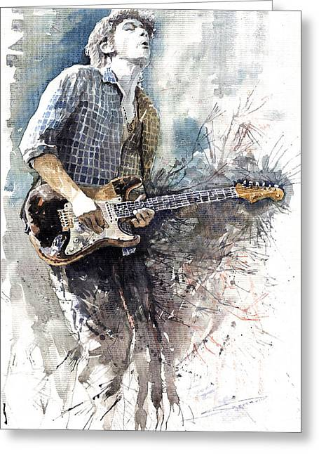Jazz Rock John Mayer 05  Greeting Card by Yuriy  Shevchuk