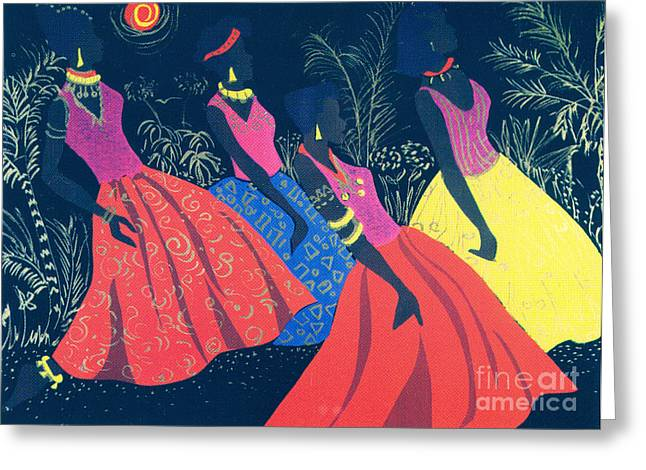 Stroll In The Park Greeting Cards - Jazz Swaying Greeting Card by Aldonia Bailey