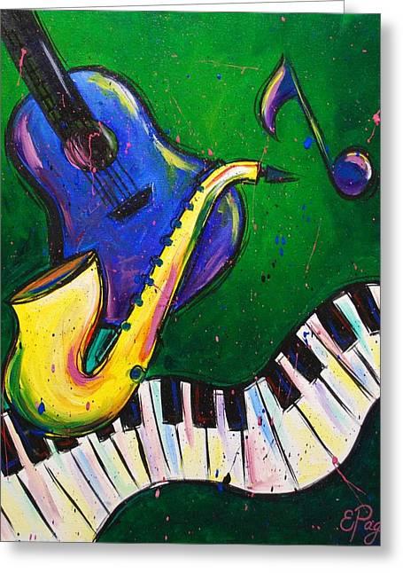 Jazz Time Greeting Card