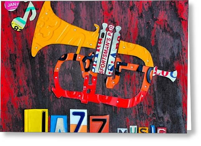 #jazz #trumpet #original #louisiana Greeting Card