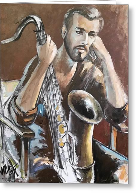 Jazz Greeting Card by Vali Irina Ciobanu