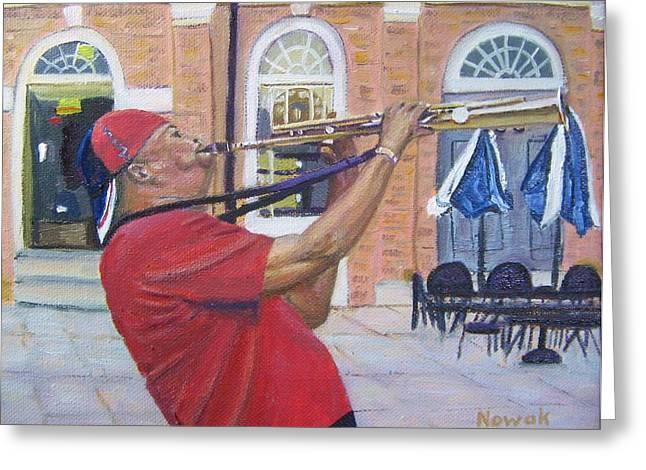 Jazzin It Up Greeting Card by Richard Nowak