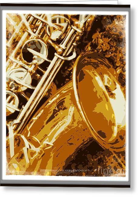 Jazzy Greeting Card by Carol Groenen