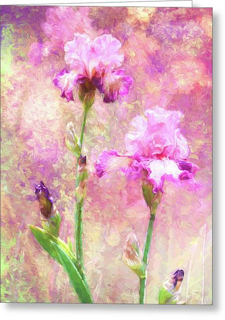 Jazzy Irises Greeting Card