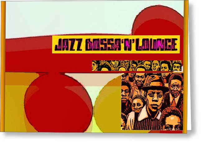 Jazzy Lounge Bossa Greeting Card