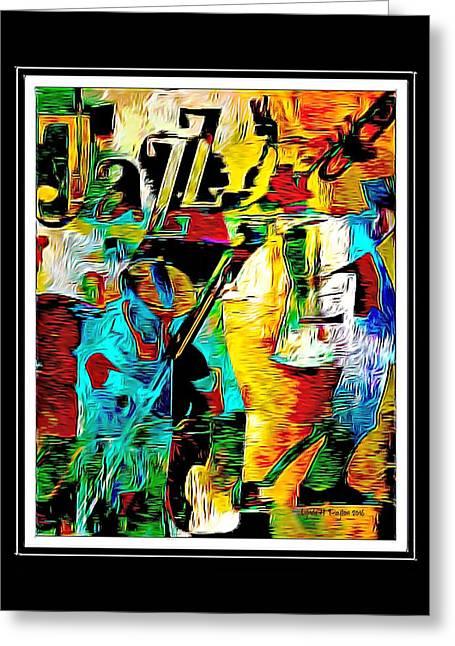 Jazzy Greeting Card by Lynda Payton