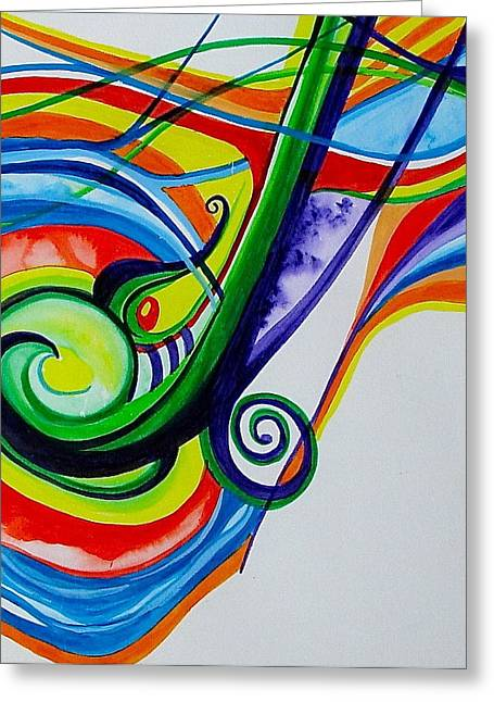 Jazzy Notes Greeting Card