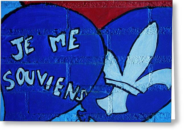 Je Me Souviens ... Greeting Card by Juergen Weiss