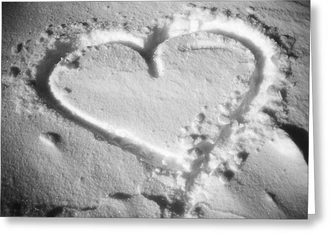 Winter Heart Greeting Card by Juergen Weiss
