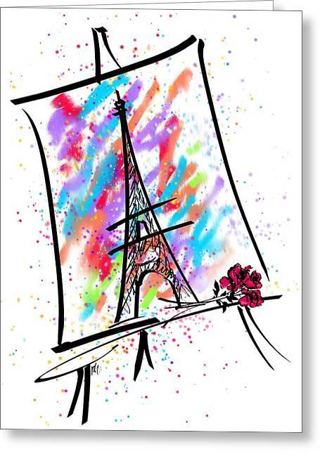 Je T'aime Paris Greeting Card