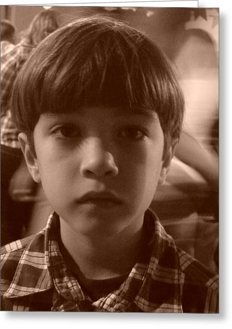 Greeting Card featuring the photograph Jealous Boy by Beto Machado
