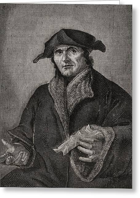 Jean Calvin,1509-1564. French Reformer Greeting Card