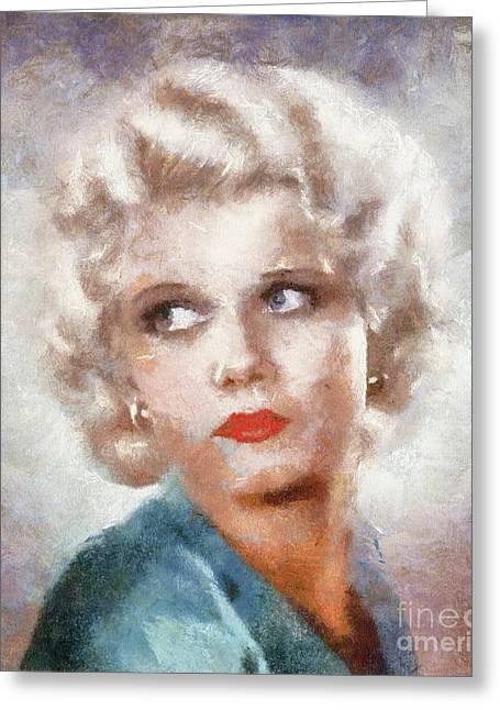 Jean Harlow By Sarah Kirk Greeting Card