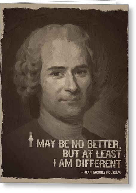 Jean Jacques Rousseau Quote Greeting Card