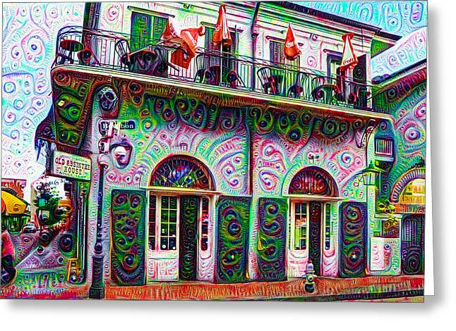 Jean Lafittes Old Absinthe House 1807 - New Orleans Greeting Card by Bill Cannon