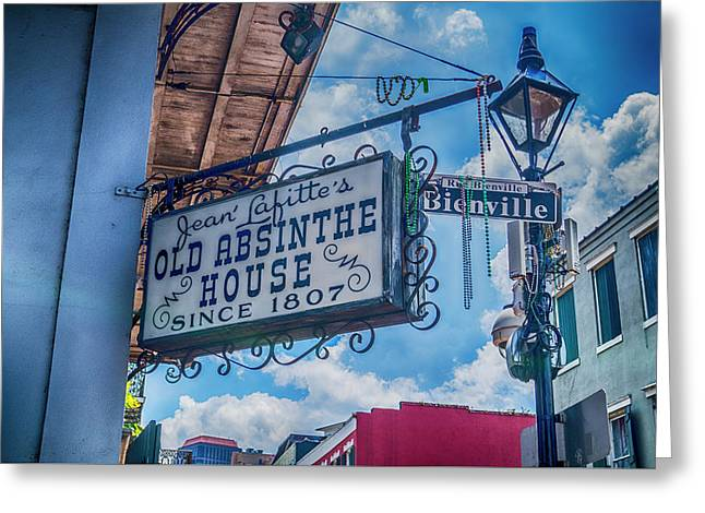 Jean Lafitte's Old Absinthe House Greeting Card