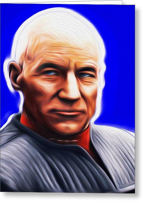 Jean-lic Picard By Nixo Greeting Card by Nicholas Nixo