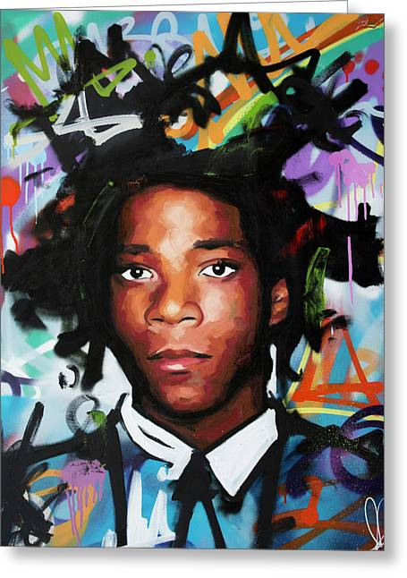 Jean, Michel, Basquiat II Greeting Card by Richard Day