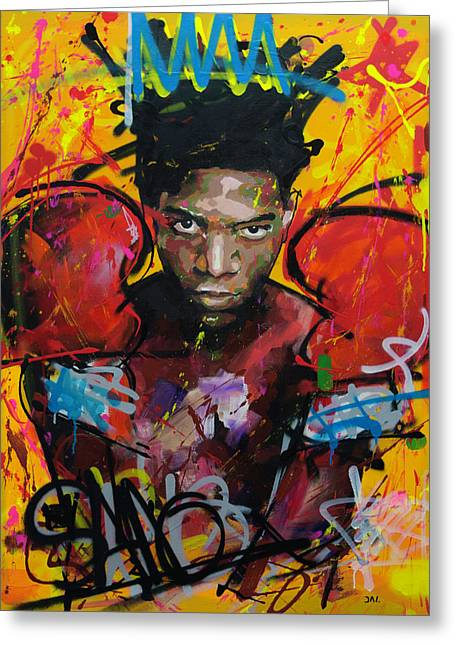 Jean-michel Basquiat Greeting Card by Richard Day