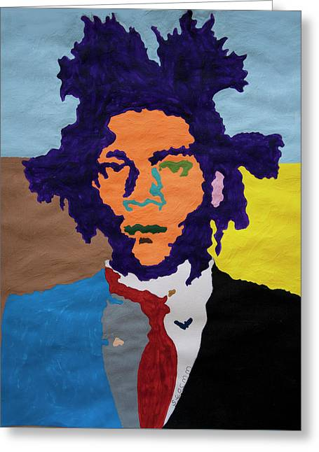 Jean Michel Basquiat Greeting Card by Stormm Bradshaw