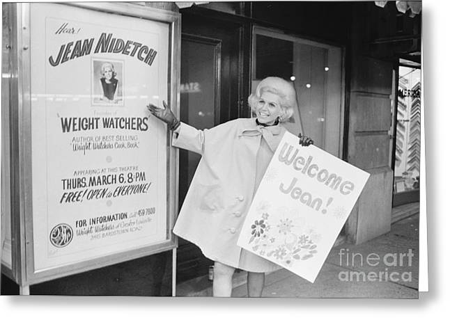 Jean Nidetch, Cofounder Of Weight Watchers Greeting Card
